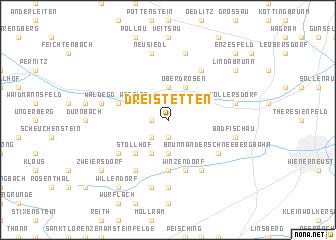 map of Dreistetten