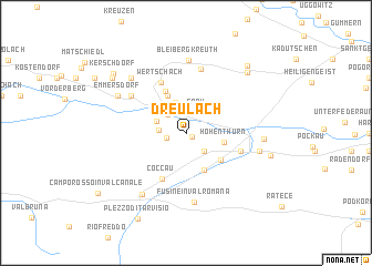 map of Dreulach