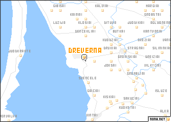 map of Dreverna