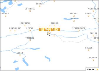 map of Drezdenko