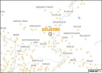 map of Drijenak