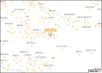 map of Drinić