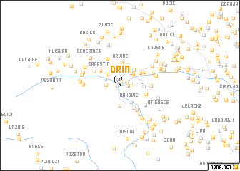 map of Drin