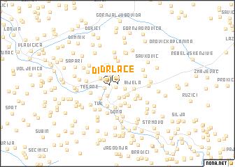 map of Drlače