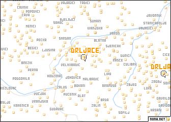 map of Drljače
