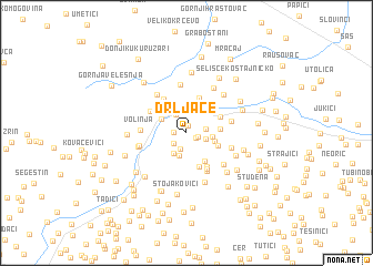 map of Drljače
