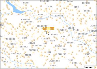 map of Drmna