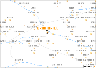 map of Droniowice