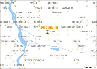 map of Dropiówka