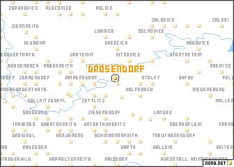 map of Drosendorf