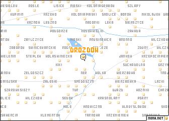 map of Drozdów