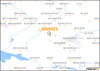 map of Drübeck