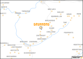 map of Drummond