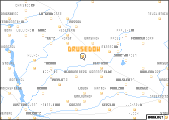 map of Drüsedow