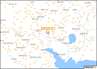 map of Drušići