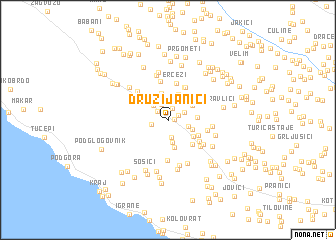 map of Družijanići