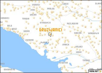 map of Družijanići