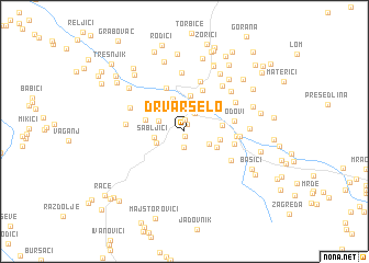 map of Drvar Selo