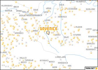 map of Drvenice
