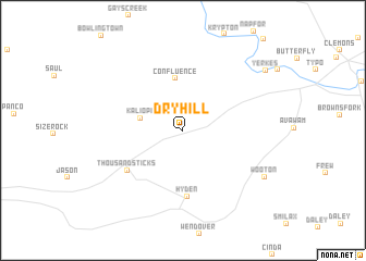 map of Dryhill