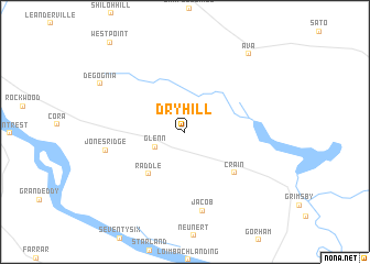 map of Dry Hill