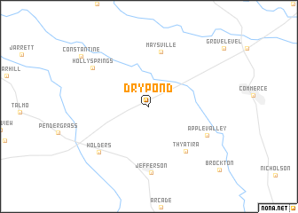 map of Dry Pond