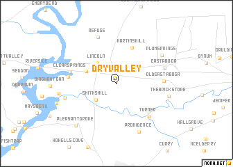 map of Dry Valley