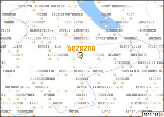 map of Drzązna
