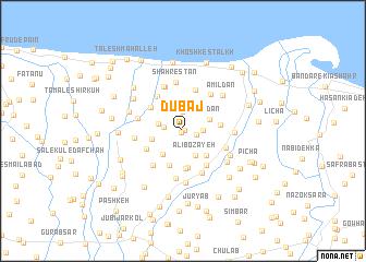 map of Dūbāj