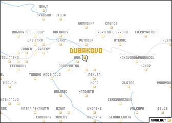 map of Ďubákovo