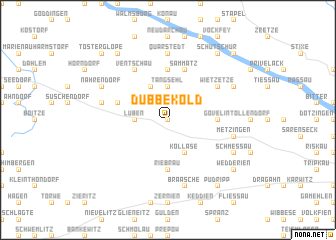 map of Dübbekold