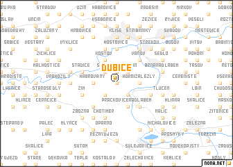 map of Dubice