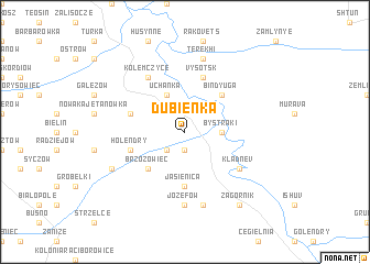 map of Dubienka