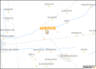 map of Dubinino