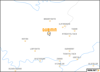 map of Dubinin