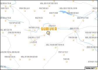 map of Dubivka