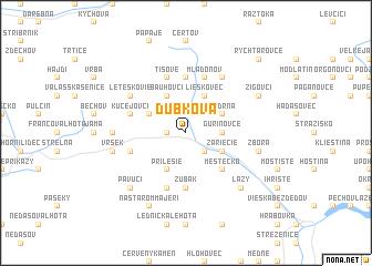 map of Dubková