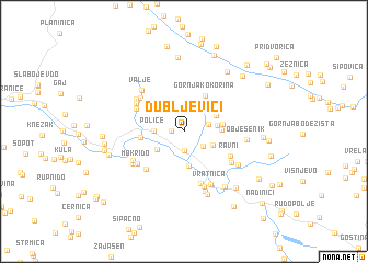 map of Dubljevići
