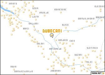 map of Dubočani