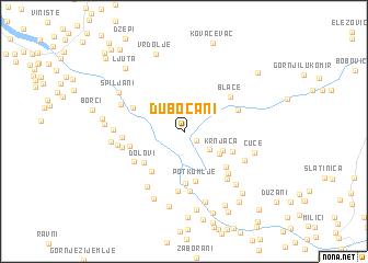 map of Dubočani
