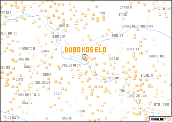 map of Duboko Selo