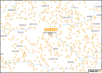map of Dubovi