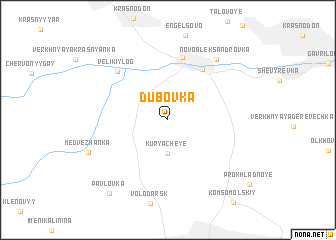 map of Dubovka