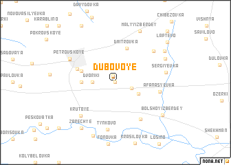 map of Dubovoye
