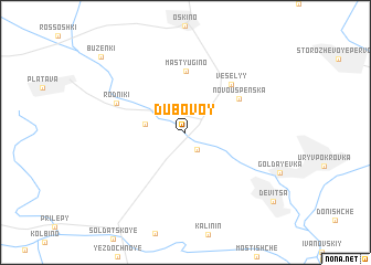 map of Dubovoy