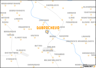 map of Dubrachëvo