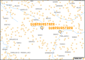 map of Dubrava Stara