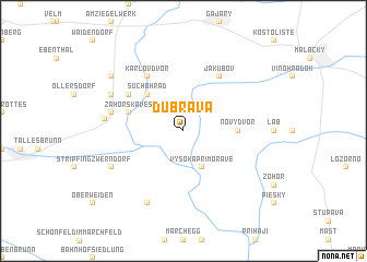 map of Dúbrava