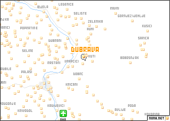 map of Dubrava