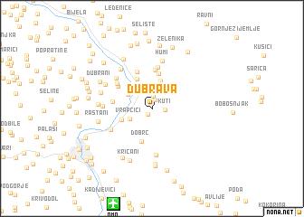 map of Dubrava